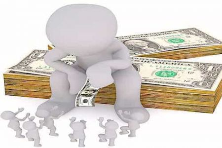 Arrogant Person Sitting On Cash