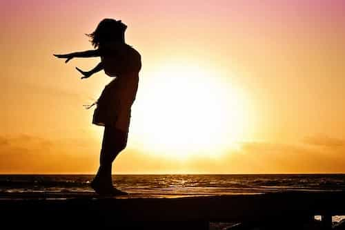 Girl Rejoicing