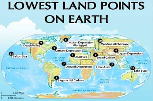 Lowest Places on Earth