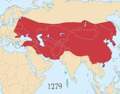 Map of Mighty Mongol Empire