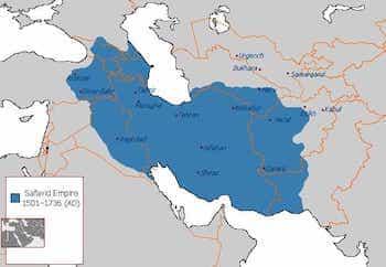 Map of Safavid Empire