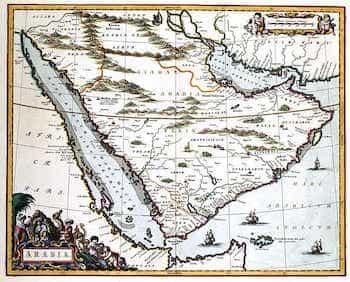Saudi Arabia Map Old
